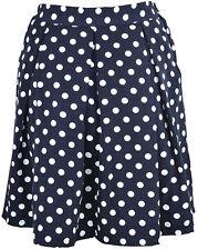 Cute Fifties polka dots retro puntos swing skirt/Rock-azul oscuro rockabilly
