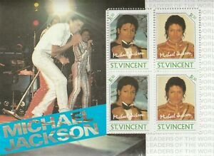 Block Michael JACKSON St.Vincent T Mint 584