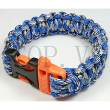 Paracord 550 Camping Para Bracelets Buckle Survival Hiking Hunting Whistle #3