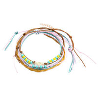 Bohemian Beads Anklets For Women Weave Rope Ankle Charm Bracelets On Leg Be N3Q3