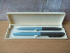 VINTAGE SOVIET USSR RUSSIAN Ink and ballpoint pen SET BOX 1981