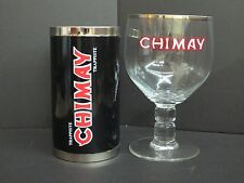 NEW CHIMAY BELGIUM GOBLET/CHALICE BEER MAGNUM 1.5L GLASS WITH KOOZIE