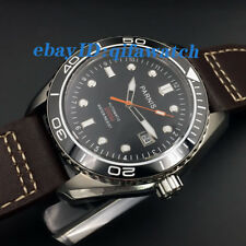 45mm Black Dial Parnis Steel Case Ceramic Bezel Miyota Automatic Mens Watch 1759