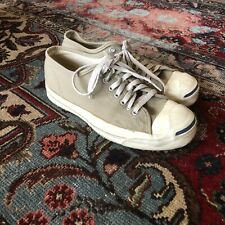 Vintage 80s Jack Purcell Converse White Beige Lace Up Sneakers Sz 8 Made In USA