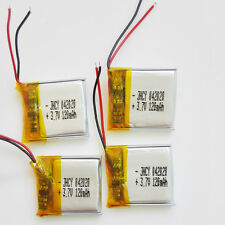 4 pcs 120mAh Lipo li-Polymer Battery 3.7V Rechargeable For MP3 bluetooth 402020