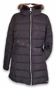 Joules Black Beaumont Faux Fur Padded Coat UK 8 NEW