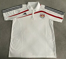 NEW YORK RED BULLS ADIDAS MLS NYRB POLO SHIRT MENS LARGE