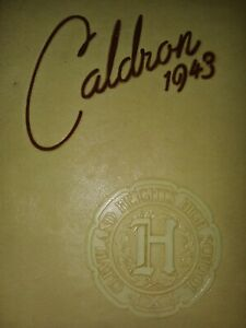 1943 Cleveland Heights High School Ohio Year Book Caldron