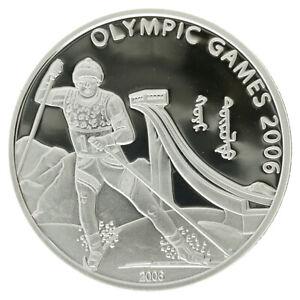 Mongolia - Silver 500 Tögrök Coin - 'Winter Olympics' - 2006 - Proof