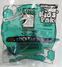 MIP Subway 1997 Dino Stompers TRICERATOPS Dinosaur WIND UP Walking Toy WindUp