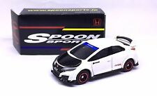 Japan Tomica Spoon Sports Racing Car Honda Civic Type R Fk2 1/64 Diecast White