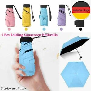 Mini Pocket Compact Faltschirm Sun Anti UV 5 Faltregen Winddichter Regenschirm