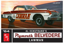 AMT 1:25 Scale 1964 Plymouth Belvedere Lawman Model Car Kit AMT986 NEW
