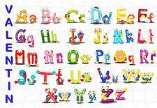 puzzle 252 pièces alphabet  personnalisable au choix texte - prénom réf GM 99
