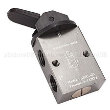 "Black PT1/4"" 2 Position 3 Way Handle Pneumatic Mechanical Valve S3HL-08"