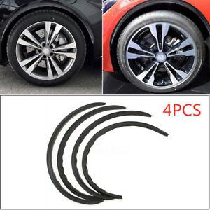 Carbon Fiber Universal Car Wheel Eyebrow Arch Trim Lips Fender Flares Protector