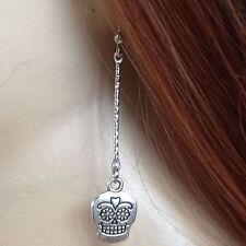 bijoux gothiques victoriens boucles d'oreilles tête de mort humoristique