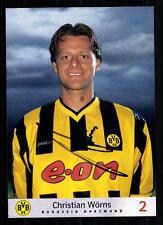 Christian Wörns Autogrammkarte Borussia Dortmund 2000/01 Original Sign + A 69283
