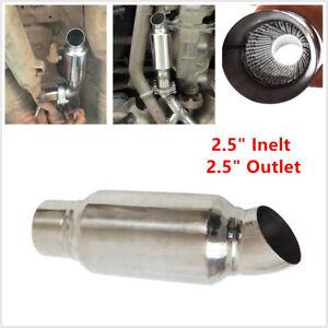 "1PCS 2.5"" Inelt 2.5"" Outlet Car Stainless Steel Exhaust Muffler Resonator 89MM"