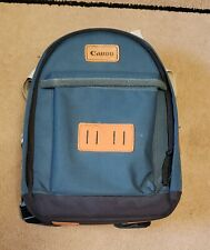 Genuine Canon Camera Camcorder Small Backpack Bag Case Green Holder