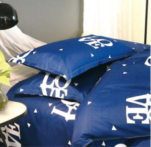 Pillow Case Blue Luxury Pillow Case  Reactive Prints Bedding Set Decorative Home