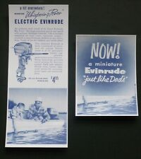 Vtg 1950's Brochure Evinrude K&O Big Twin Toy Outboard Motor Battery Operated