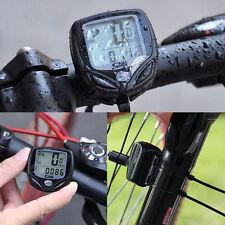 Waterproof Cycle Bike Bicycle Wireless LCD Digital Computer Speedometer Odometer