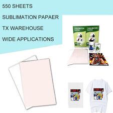 Sublimation Paper Heat Transfer Dye Inkjet Iron On Mug T Shirt 550 Sheets A4 Us