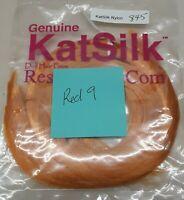 "Genuine KatSilk Nylon Doll Hair - 3/4 ounce - 18"" length - #845 Red-9"