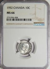 1952 Canada Ten Cents Double 19 NGC MS 66 10c