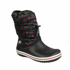 HELLO KITTY GIRLS CROCS PULL ON TOGGLE LIGHTWEIGHT CASUAL FLAT WINTER SNOW BOOTS