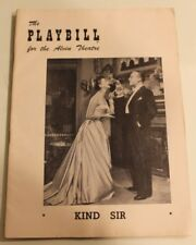 "Vintage Brroadway Playbill - MARY MARTIN in""Kind Sir""- w/Charles Boyer Nov.1953"