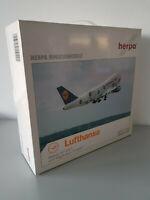 1:200 Herpa Wings 550291 Lufthansa Cargo Boeing 747-200F Service Reg. D-ABZF NEU