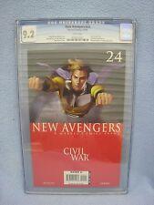 New Avengers #24 (Nov 2006, Marvel) CGC 9.2 CIVIL WAR Adi Granov Sentry Cover