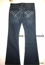 WILLIAM RAST $182 NWT Belle Flared Flap Jeans WOMENS 29 Faded Denim Wash Flare