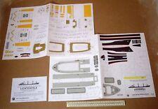 1970s Jade Wilhelmshavener Modellbau Paper Kit 1:250 Freighter MS Lichtenfels