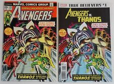 The Avengers #125 1974 Marvel 1st THANOS Avengers also includes True Believers 1