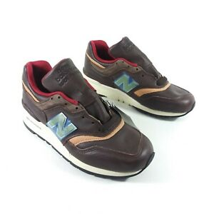 New Balance Men's Size 7 M997PAH Made In The USA Brown Horween Leather A2705