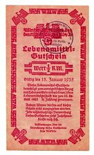 Nazi Germany 1934-35 WHW Winterhilfswerk Winter Help 1/2 RM Ration Milow Type 3