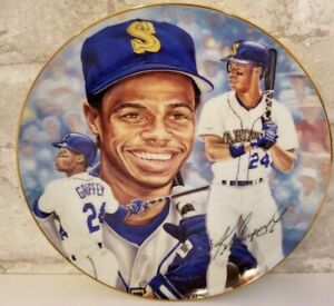 "1992 Gartlan Ken Griffey Jr 24 Plate 8.5"" Seattle Mariners Kid Michael Taylor US"