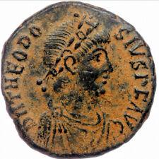 392-395 AD Theodosius I the Great AE maiorina ANTA in exergue SUPERB PATINA XF