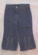 Gymboree 2T Girls Flowers Jeans EUC adjust floral