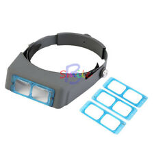 Headband Head Wearing Jeweler Reading Magnifier Magnifying Glass Loupe & 4 Lens
