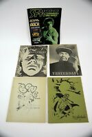 5 Collectible Science Fiction Fanzines Nightshade, Yesterday, SFTV Poster Book+