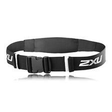 2XU Unisex Expandable Belt Black Sports Running Reflective Lightweight Zip
