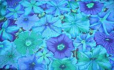 Fat Quarter Kaffe Fassett le Petunie-blu-cotone tessuti quilting