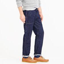 Wallace & Barnes J Crew Men's Japanese Denim Carpenter Work Pant Jeans NEW 32x34