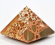 62mm Peruvian Leopardite Jasper Pyramid Natural Quartz Mineral Rhyolite Stone