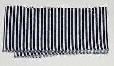 metre cotton poplin with narrow black and white  stripes