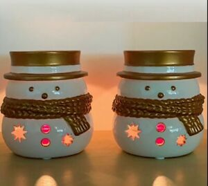 2 X Yankee Candle Jackson Frost Tea-ligh Candle Holder + Tealights x12 NEW XMAS